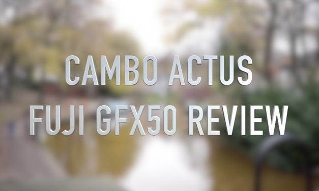 Cambo Actus GFX Fuji GFX50s Camera review